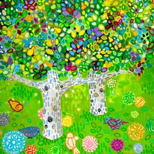 'Pear Tree' by Andrew Daniel Painting Print on Wrapped Canvas