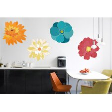 Graphic Flowers Wall Decal