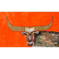 """Golden Bull"" by Eli Halpin Painting Print on Wrapped Canvas"