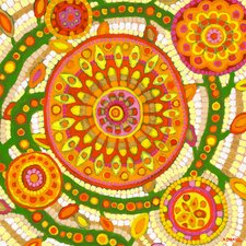 'Spiral Flower' Mandala by Andrew Daniel Painting Print on Wrapped Canvas