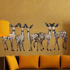 5 Dancing Fawns Wall Decal