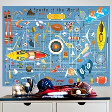 """""""Sports Of The World"""" by Daviz Wall Mural"""