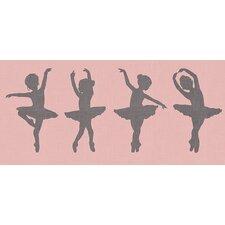 'Ballerina Girls' by Patti Rishforth Graphic Art on Canvas