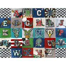 'Sports Alphabet' by Jones Segarra Graphic Art on Canvas