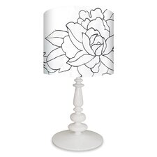 """Flower Triptych 26"""" H Table Lamp with Drum Shade"""