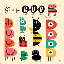 B is for Bug Canvas Art