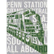The Places He'll Go Train Canvas Art