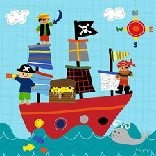 Pirate Ship Playtime Canvas Art