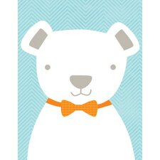 Bow Tie Teddy Canvas Art