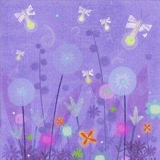 Fanciful Fireflies Canvas Art