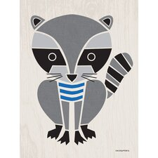 Modern Animals Raccoon Canvas Art