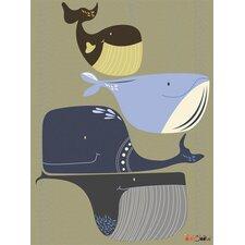 Whale Pod Canvas Art