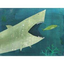 Uh Oh Shark Canvas Art