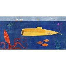 Submarine and Octopus Canvas Art