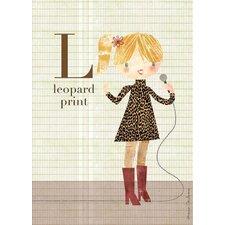 Fashion Leopard Print Canvas Art