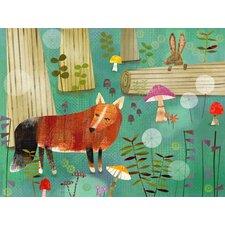 Magical Fox Forest Canvas Art