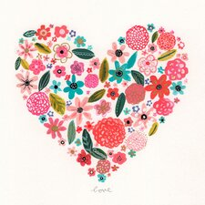 Painted Heart Canvas Art
