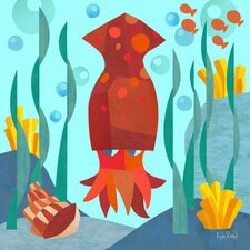 Marine Munchkins - Squid Canvas Art