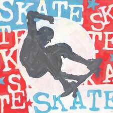 Extreme Sports Skateboard by Roger Groth Graphic Art on Wrapped Canvas