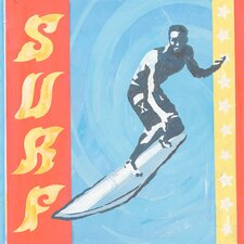 Extreme Sports Surf by Roger Groth Graphic Art on Wrapped Canvas