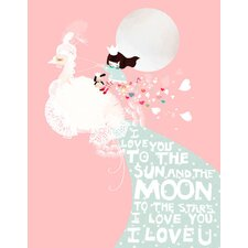 I Love You to the Sun and the Moon Canvas Art