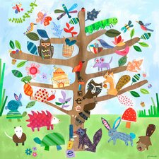 Tree of Life - Critters Canvas Art