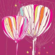 Dotty Tulips Canvas Art