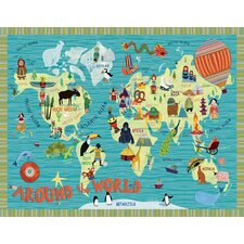 Around the World Canvas Art