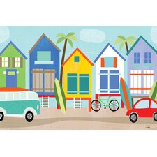 Surf Shacks Canvas Art