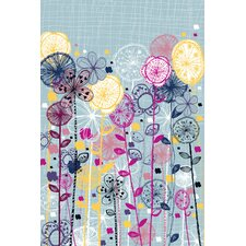 Quirky Floral Stems Canvas Art