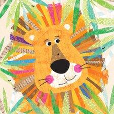 Peeking Jungle Buddies - Lion Canvas Art