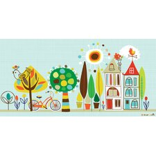 Neighborhood Birdies Canvas Art