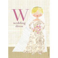 Fashion Wedding Dress Canvas Art