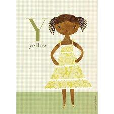 Fashion Yellow Canvas Art