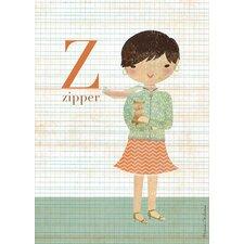 Fashion Zipper Canvas Art