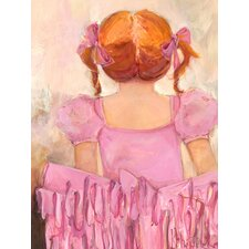 Angelic Ballerina Red Hair Canvas Art