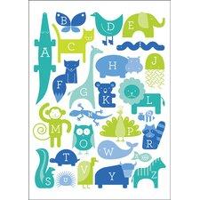 ABC Animalia Canvas Art