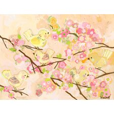 Cherry Blossom Birdies Canvas Canvas Art