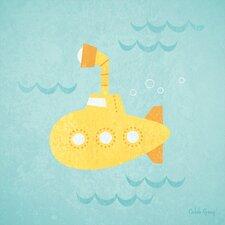 Making Waves Submarine Canvas Art