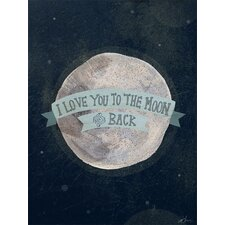 I Love You to the Moon Canvas Art