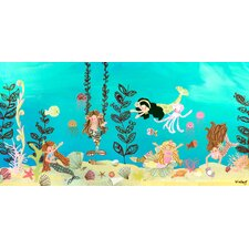 Mermaid Play Day Canvas Art
