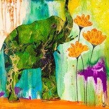 Elephant Color Wash Canvas Art
