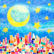 Nighttime City Canvas Art