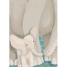 Stand by Me (Elephants) Canvas Art