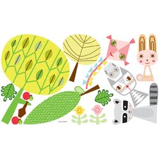 Paper Animals and Elements Medium Peel and Place Wall Decal