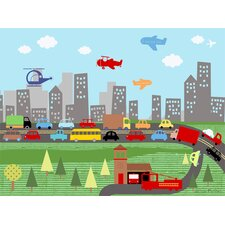 Urban Commute By Car and By Air Canvas Art