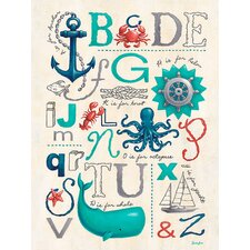 Nautical ABCs by Finny and Zook Canvas Art