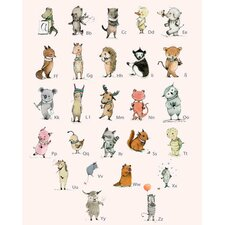 Little Critters ABC by Paola Zakimi Canvas Art