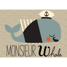 Monsieur Whale by Amy Blay Canvas Art