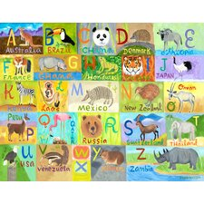 Globally Wild Alphabet by Donna Ingamson Canvas Art
